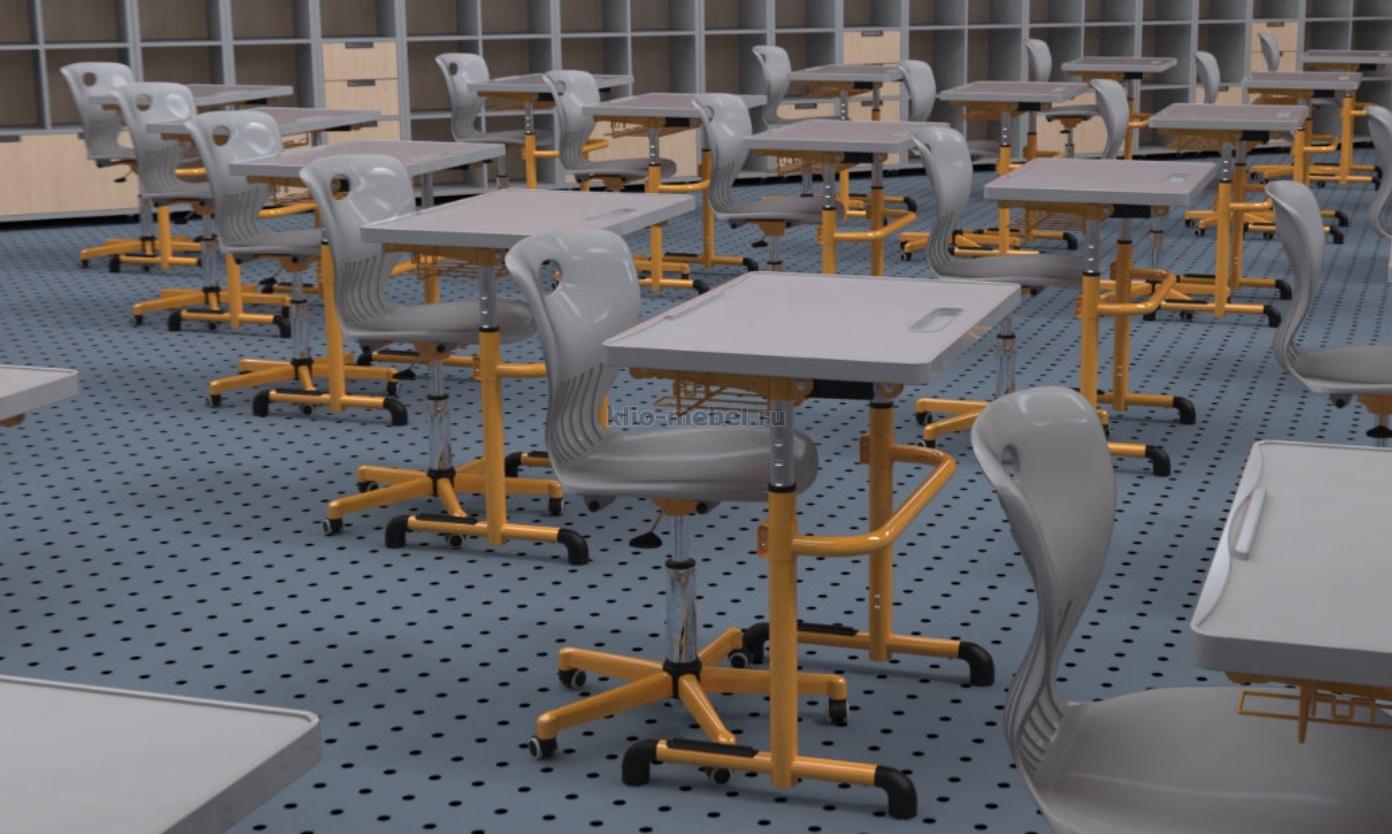 Столы ученические с наклоняемой столешницей