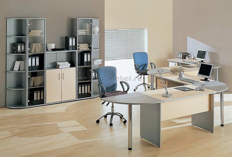 """Офисная мебель персонала """"Imago Клен-Венге-Металлик"""""""