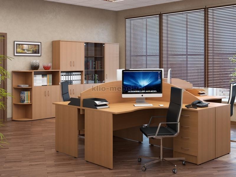 """Офисная мебель персонала """"Riva Орех Груша Серый"""""""