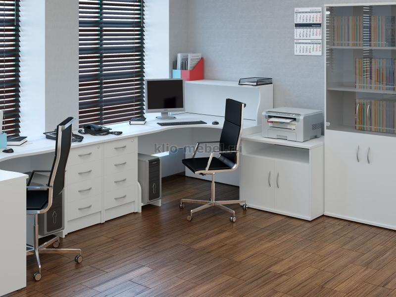 "Офисная мебель персонала ""Riva Белый Клен Венге Металлик"""